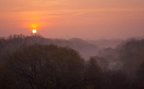 sunrise over mt pleasant