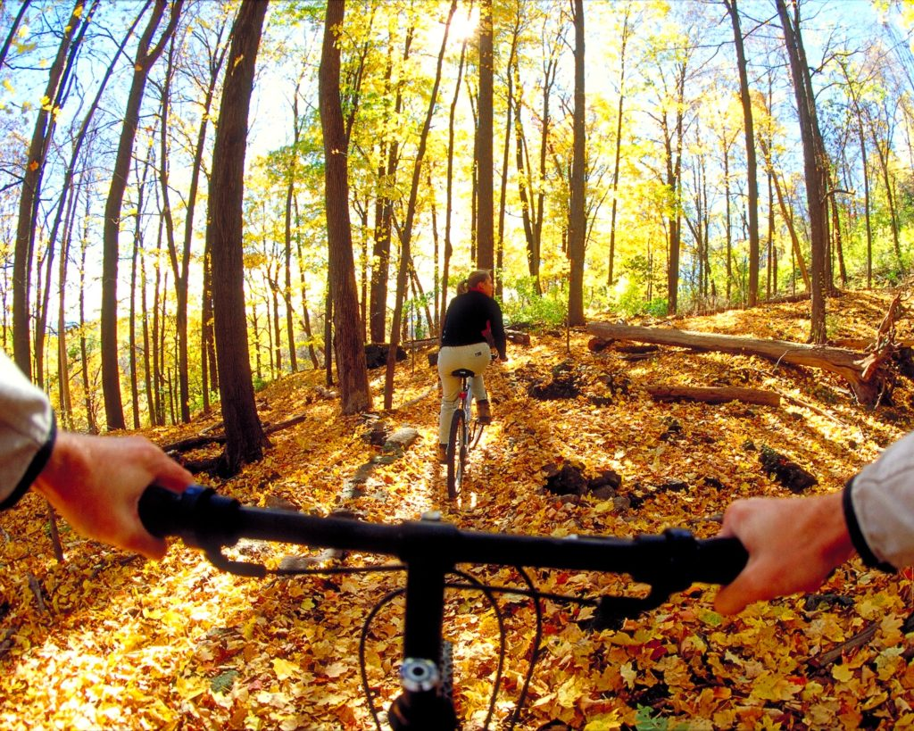 Mountain biking on the Bruce Trail, Ministry of Tourism