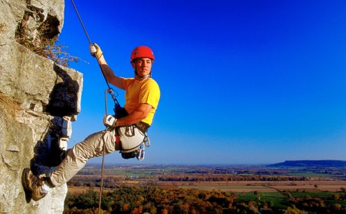 Rock climbing on the Niagara Escarpment, Ministry of Tourism